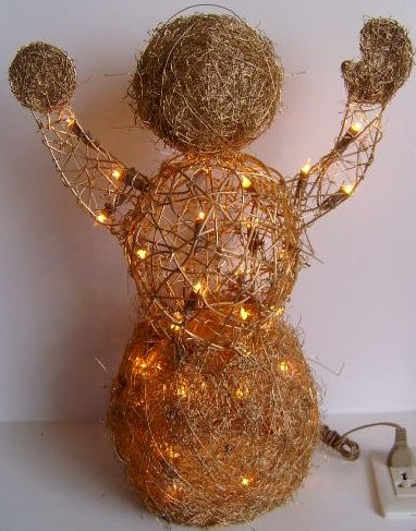 manufactured in China  FY-06-002 cheap christmas scarecrow rattan light bulb lamp  corporation