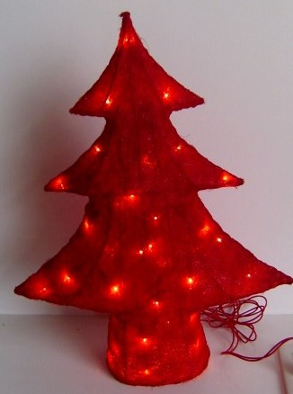 manufacturer In China FY-06-006 cheap christmas red tree rattan light bulb lamp  company