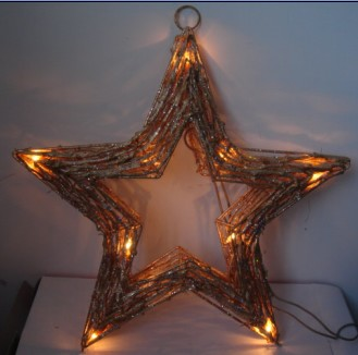 manufacturer In China FY-06-009 cheap christmas star rattan light bulb lamp  corporation
