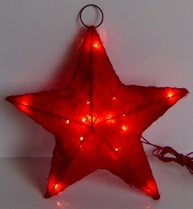 made in china  FY-06-016 cheap christmas red star rattan light bulb lamp  factory