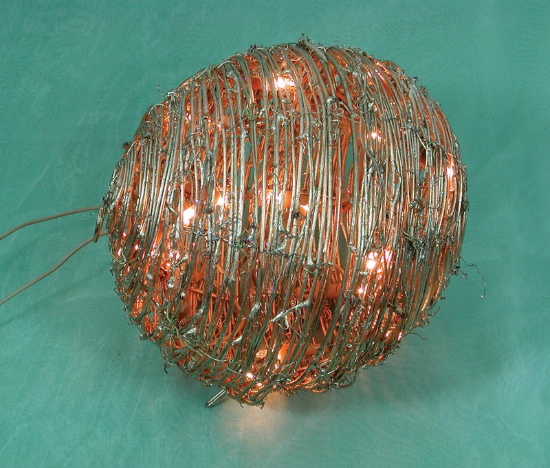 manufactured in China  FY-06-017 cheap christmas gold ball rattan light bulb lamp  distributor