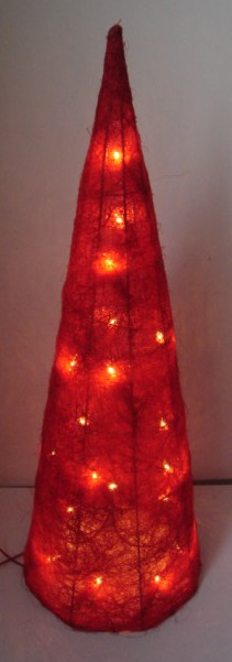 manufacturer In China FY-06-030 cheap christmas red cone rattan light bulb lamp  corporation