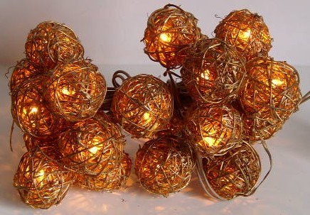 made in china  FY-06-037 cheap christmas small balls rattan light bulb lamp  factory