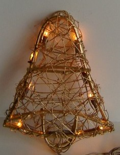 manufacturer In China FY-06-039 cheap christmas Two-sides bell rattan light bulb lamp  factory