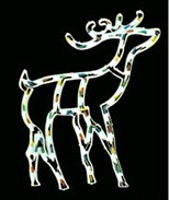 manufactured in China  cheap christmas deer plastic frame light bulb lamp  company