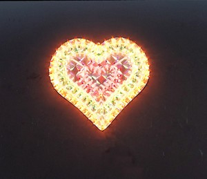 made in china  cheap christmas heart plastic frame light bulb lamp  company