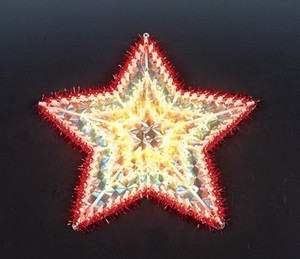 manufacturer In China cheap christmas star plastic frame light bulb lamp  factory