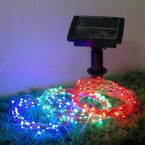 Energia solare 100 led filo di rame stringa luci di natale for Luci led piccole