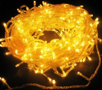 manufacturer In China Yellow 144 Superbright LED String Lights Multifunction Clear Cable  distributor